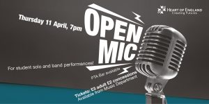 Open Mic Evening banner ad