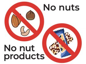 No nuts or nut products