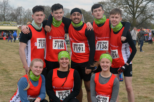 Heart of England Sixth Form Wolf Run team